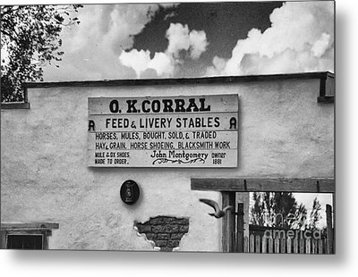 The O. K. Corral Metal Print by Anne Rodkin