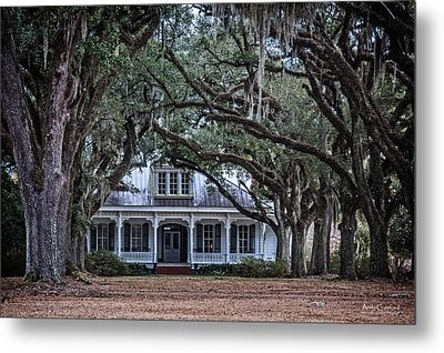 The Oaks Plantation Metal Print by Andy Crawford