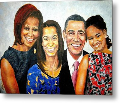 The Obama Family Metal Print by G Cuffia