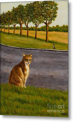 The Obscure Communication Between Cats Metal Print