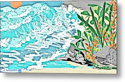 The Ocean Blues Metal Print by Sherry  Hatcher