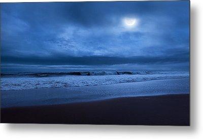 The Ocean Moon Metal Print