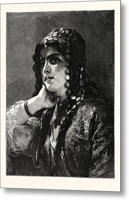 The Odalisque. An Odalisque Was A Female Slave Or Concubine Metal Print by German School