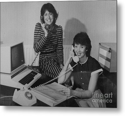 The Office Girls Metal Print by Julie Dunkley