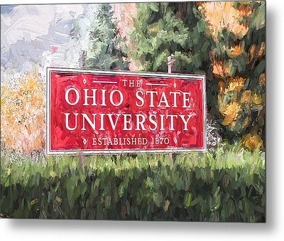 Metal Print featuring the painting The Ohio State University by Ike Krieger