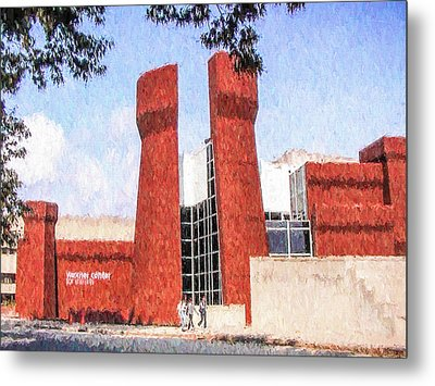 Metal Print featuring the painting The Ohio State University Wexner Center by Ike Krieger