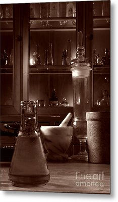 Metal Print featuring the photograph The Old Apothecary Shop by Olivier Le Queinec