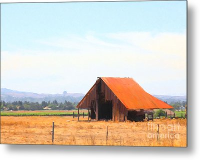 The Old Barn 5d24404 Metal Print by Wingsdomain Art and Photography