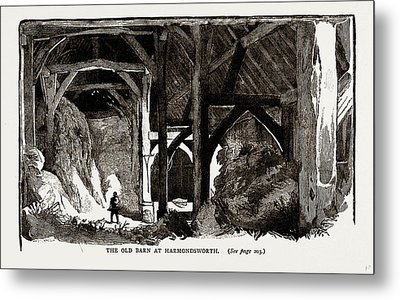 The Old Barn At Harmondsworth, Uk Metal Print by Litz Collection