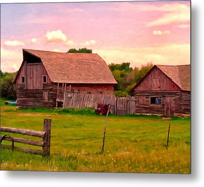 The Old Barn Metal Print by Michael Pickett