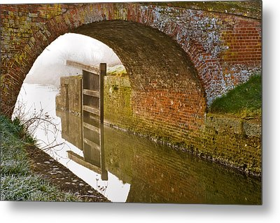 Metal Print featuring the photograph The Old Bridge And Lock Gates by Trevor Chriss