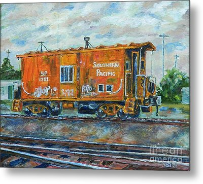 The Old Caboose Metal Print by William Reed