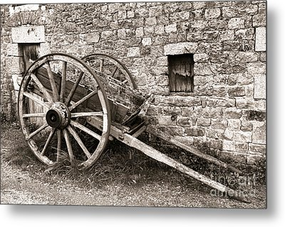 The Old Cart Metal Print by Olivier Le Queinec