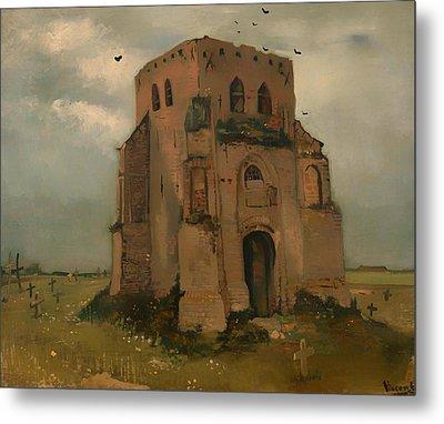 The Old Church Tower At Neunen Metal Print