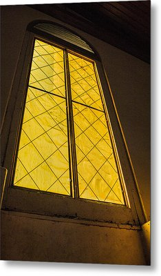 Metal Print featuring the photograph The Old Church Window  by Naomi Burgess