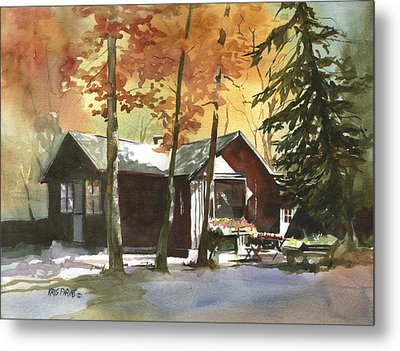 The Old Cottage Metal Print by Kris Parins