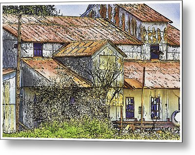 The Old Cotton Barn Metal Print by Barry Jones