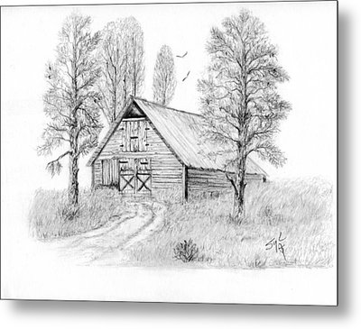 The Old Country Barn Metal Print by Syl Lobato