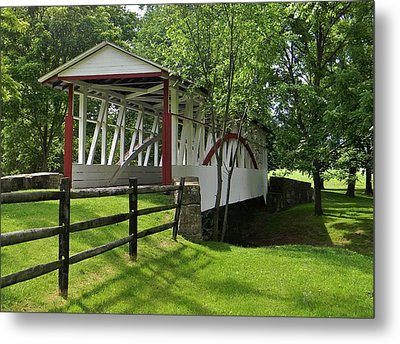 The Old Covered Bridge Metal Print by Jean Goodwin Brooks