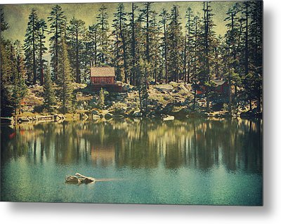 The Old Days By The Lake Metal Print by Laurie Search