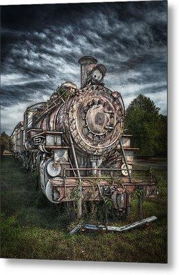 The Old Depot Train Metal Print by Brenda Bryant