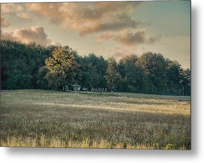 The Old Farm At Sunrise - Country Scene Metal Print by Jai Johnson