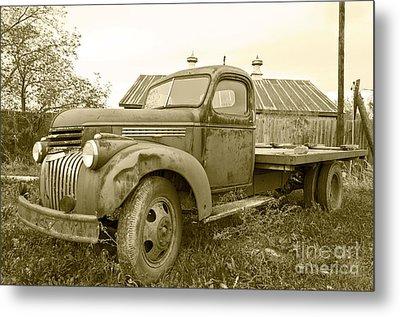 The Old Farm Truck Metal Print by John Debar