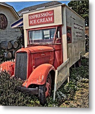 The Espresso And Ice Cream Truck Metal Print