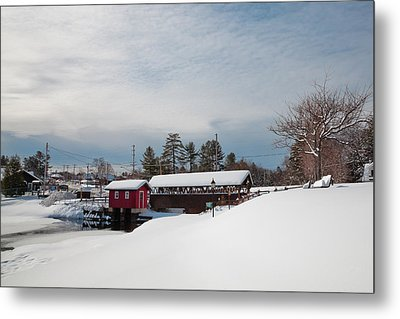 The Old Forge Covered Bridge Metal Print by David Patterson
