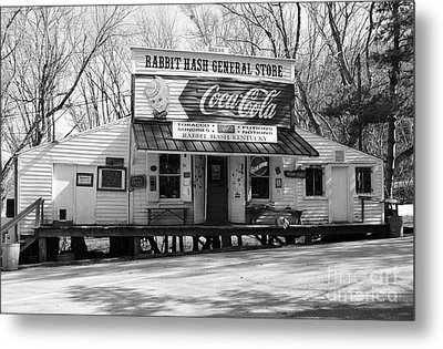 The Old General Store Bw Metal Print by Mel Steinhauer
