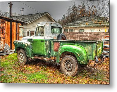 Metal Print featuring the photograph The Old Green Truck by Jim Thompson