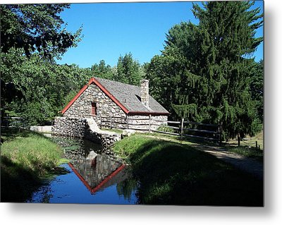 The Old Grist Mill Metal Print by Georgia Hamlin