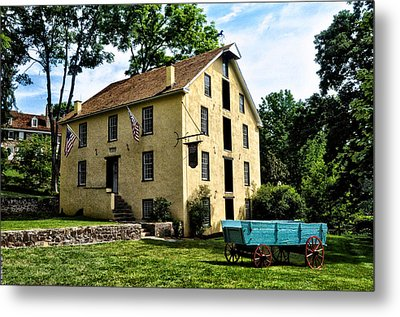 The Old Grist Mill  Paoli Pa. Metal Print by Bill Cannon