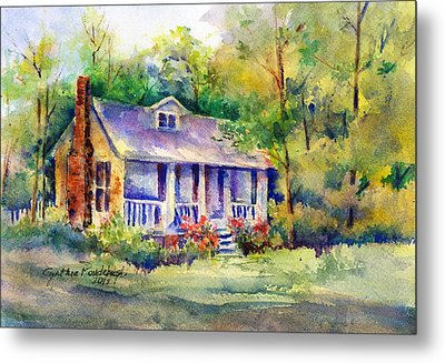 The Old Homestead Metal Print by Cynthia Roudebush