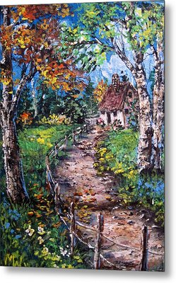 Metal Print featuring the painting The Old Homestead by Megan Walsh