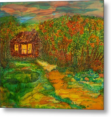Metal Print featuring the painting The Old Homestead by Susan D Moody
