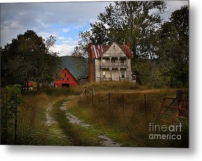 The Old Homestead Metal Print by T Lowry Wilson