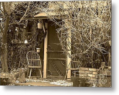 The Old House In Genoa Nevada Metal Print by Artist and Photographer Laura Wrede