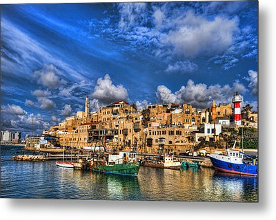 Metal Print featuring the photograph the old Jaffa port by Ron Shoshani