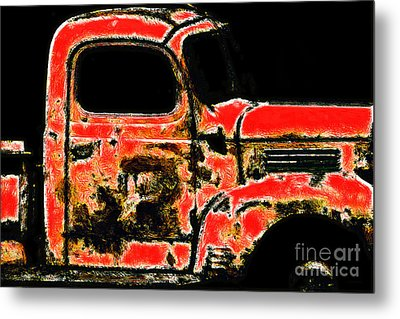 The Old Jalopy 7d22382 Metal Print by Wingsdomain Art and Photography