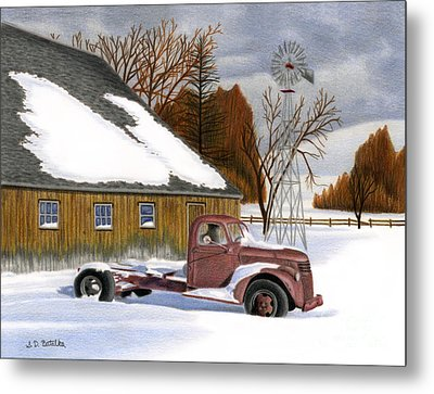 The Old Jalopy Metal Print by Sarah Batalka