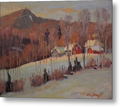 Metal Print featuring the painting The Old Kordana Farm by Len Stomski