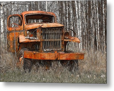 The Old Military Truck Metal Print