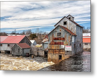 The Old Mill And The Raging River Metal Print