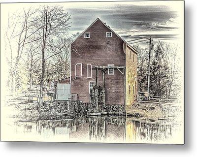 The Old Mill Metal Print by Arnie Goldstein