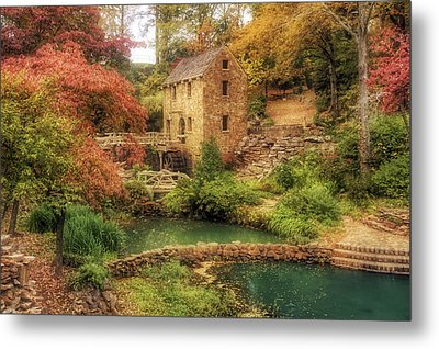 The Old Mill In Autumn - Arkansas - North Little Rock Metal Print by Jason Politte