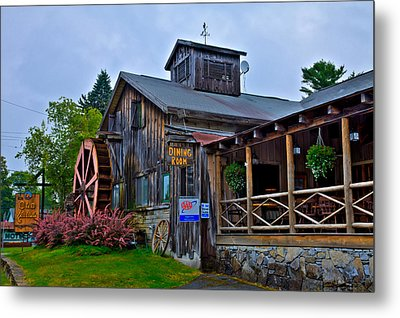 The Old Mill Restaurant - Old Forge New York Metal Print by David Patterson