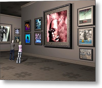 Metal Print featuring the digital art The Old Museum by John Alexander