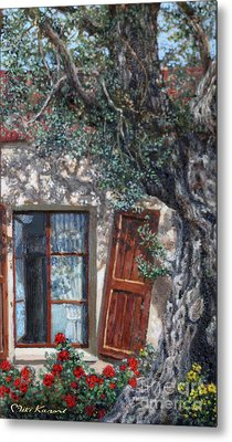 The Old Olive Tree And The Old House Metal Print