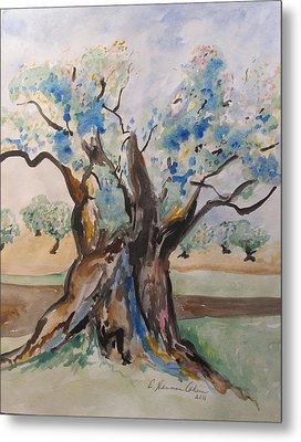 The Old Olive Tree Metal Print by Esther Newman-Cohen